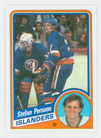1984-85 Topps Hockey Stefan Persson Single Print New York Islanders Near-Mint to Mint