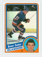 1984-85 Topps Hockey Brent Sutter Single Print New York Islanders Near-Mint to Mint