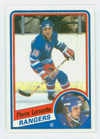 1984-85 Topps Hockey Pierre Larouche Single Print New York Rangers Near-Mint to Mint