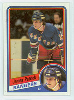 1984-85 Topps Hockey James Patrick ROOKIE New York Rangers Near-Mint to Mint