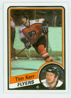 1984-85 Topps Hockey Tim Kerr Single Print Philadelphia Flyers Near-Mint to Mint