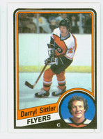 1984-85 Topps Hockey Darryl Sittler Single Print Philadelphia Flyers Near-Mint to Mint