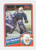 1984-85 Topps Hockey Dan Bouchard Single Print Quebec Nordiques Near-Mint to Mint