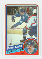 1984-85 Topps Hockey Michel Goulet Quebec Nordiques Near-Mint to Mint