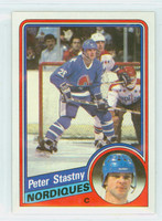1984-85 Topps Hockey Peter Stasny Single Print Quebec Nordiques Near-Mint to Mint