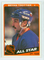 1984-85 Topps Hockey Bryan Trottier AS New York Islanders Near-Mint to Mint
