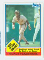 1983 Topps Baseball 2 Rickey Henderson RB Oakland Athletics Near-Mint to Mint