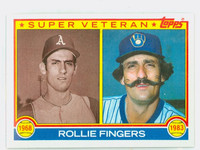 1983 Topps Baseball 36 Rollie Fingers Super Vet Milwaukee Brewers Near-Mint to Mint