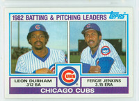1983 Topps Baseball 51 Cubs Leaders Near-Mint to Mint