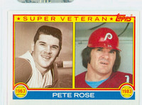 1983 Topps Baseball 101 Pete Rose Super Vet Philadelphia Phillies Near-Mint to Mint