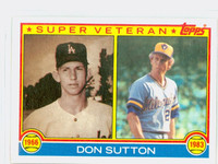 1983 Topps Baseball 146 Don Sutton Super Vet Milwaukee Brewers Near-Mint to Mint
