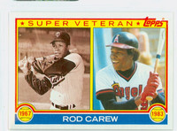 1983 Topps Baseball 201 Rod Carew Super Vet California Angels Near-Mint to Mint