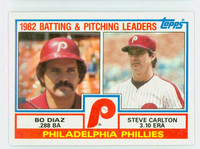 1983 Topps Baseball 229 Phillies Leaders Near-Mint to Mint