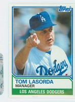 1983 Topps Baseball 306 Tom Lasorda Los Angeles Dodgers Near-Mint to Mint