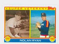 1983 Topps Baseball 361 Nolan Ryan Super Vet Houston Astros Near-Mint to Mint