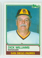 1983 Topps Baseball 366 Dick Williams San Diego Padres Near-Mint to Mint