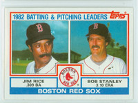 1983 Topps Baseball 381 Red Sox Leaders Near-Mint to Mint