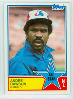 1983 Topps Baseball 402 Andre Dawson All-Star Montreal Expos Near-Mint to Mint