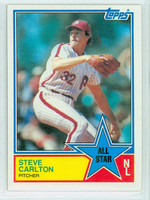 1983 Topps Baseball 406 Steve Carlton All-Star Philadelphia Phillies Near-Mint to Mint