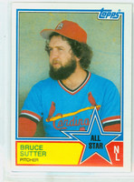 1983 Topps Baseball 407 Bruce Sutter All-Star St. Louis Cardinals Near-Mint to Mint