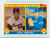 1983 Topps Baseball 411 Phil Niekro Super Vet Atlanta Braves Near-Mint to Mint