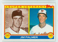 1983 Topps Baseball 491 Jim Palmer Super Vet Baltimore Orioles Near-Mint to Mint