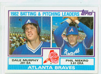 1983 Topps Baseball 502 Braves Leaders Near-Mint to Mint