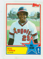 1983 Topps Baseball 386 Rod Carew All-Star California Angels Near-Mint to Mint