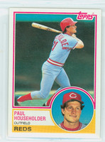 1983 Topps Baseball 34 Paul Householder Cincinnati Reds Near-Mint to Mint