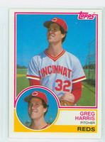 1983 Topps Baseball 296 Greg Harris Cincinnati Reds Near-Mint to Mint