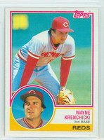 1983 Topps Baseball 374 Wayne Krenchicki Cincinnati Reds Near-Mint to Mint