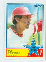 1983 Topps Baseball 400 Dave Concepcion All-Star Cincinnati Reds Near-Mint to Mint