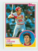 1983 Topps Baseball 423 Tom Lawless ROOKIE Cincinnati Reds Near-Mint to Mint
