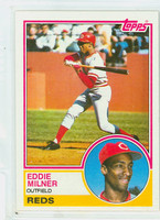 1983 Topps Baseball 449 Eddie Milner ROOKIE Cincinnati Reds Near-Mint to Mint