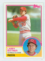 1983 Topps Baseball 527 Larry Biittner Cincinnati Reds Near-Mint to Mint