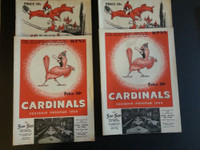 1954 BB Columbus Red Birds Scored Programs Lot of 2 Diff plus 2 extra Excellent to Mint