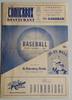 1950 Yankees Program vs Cardinals SPRING TRAINING Scored Lopat vs Brazle - Martin, Ford rookies Excellent [Heavy compact fold]