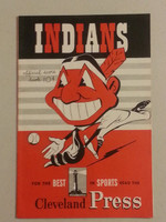 1950 Indians Game Program vs Senators (20 pg) Scored May 24 - Wynn vs Nagy (Cle 5-4, Vernon 3 Hits) Near-Mint [Very lt wear on cover, overall sharp]