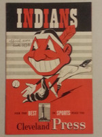 1950 Indians Game Program vs Athletics (20 pg) Scored September 17 - Rozek vs Brissie (PHI 10-9 10 IN, HR Doby) Near-Mint [Very lt wear on cover, overall sharp]