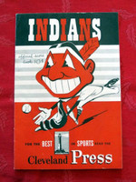 1950 Indians Game Program vs Athletics (20 pg) Scored July 26 - Garcia vs Fowler (Cle 6-2, Boudreau 3 Hits) Very Good to Excellent [Very lt scuffing and creasing on cover; contents great]