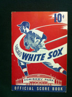 1950 White Sox Game Program vs Red Sox (12 pg) Scored August 6 - Pierce vs Kinder (Bos 9-2, HR Doerr) Excellent [Cover detached at one staple, other secure; contents fine]