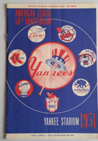 1951 Yankees Program vs Red Sox (24 pg) Part Scored 6 INN Sep 28 Yankees Clinch, DiMaggio Last HR (NY 11-3) Very Good to Excellent [Final 6 pgs have paper loss fr age; lt compact fold]