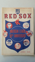 1951 Red Sox Program vs White Sox (24 pg) Unscored Parnell vs Dorish Very Good to Excellent [Sl toning on cover, ow very clean]