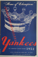 1952 Yankees Program vs Senators (24 pg) Unscored Excellent [Minor paper loss on cover corner, ow very clean]