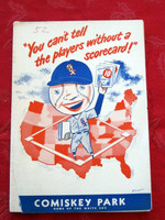 1952 White Sox Game Program vs Red Sox (24 pg) Scored 7 INN May 15 - Holcombe vs Scarborough (Bos 1-0, CG SHO) Very Good [Front cover detached, year WRT on cover; contents fine]