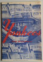 1953 Yankees Program vs Indians (24 pg) Scored Game Date Not Known Excellent [Lt wear on both covers ow very clean]