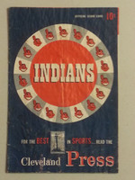 1953 Indians Game Program vs Yankees (20 pg) Unscored Fair [Heavy staining, moisture; readable example for the price]