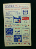 1953 Senators Scorecard vs Red Sox (4 pg) Unscored Near-Mint [Very sharp]