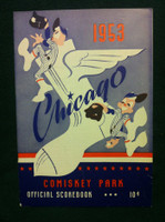 1953 White Sox Game Program vs Red Sox (24 pg) Unscored Excellent to Mint [Line up changes marked in pencil, lt wear, ow very clean]