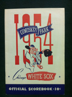 1954 White Sox Game Program vs Tigers (28 pg) Unscored Excellent to Mint [Very minor stain on cover, ow very sharp]